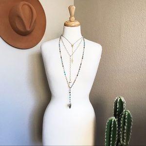 handmade Jewelry - Triple Layer Boho Necklace